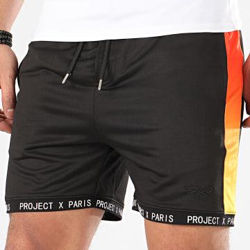Short Jogging A Bandes 2040016 Noir