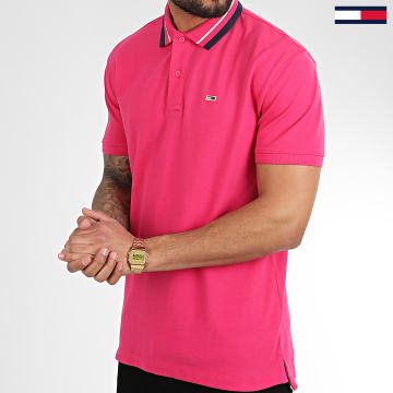 Tommy Hilfiger - Polo Manches Courtes Classics Tipped 7195 Rose Fushia