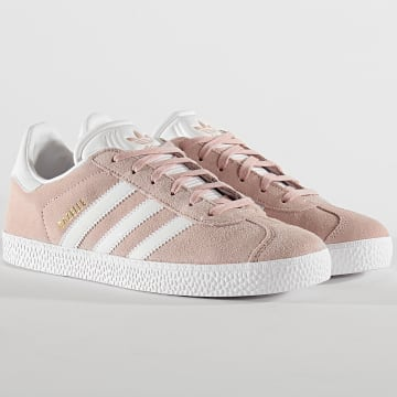 Baskets Femme Gazelle BY9544 Icey Pink Cloud White Gold Metallic