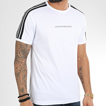 Tee Shirt A Bandes Sport Heritage MMKS01730 Blanc