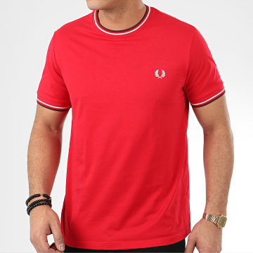 Fred Perry - Tee Shirt Twin Tipped M1588 Rouge