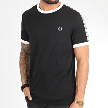 Fred Perry - Tee Shirt A Bandes Taped Ringer M6347 Noir