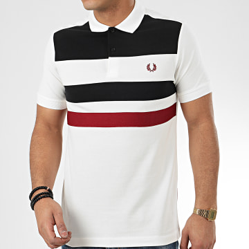 Fred Perry - Polo Manches Courtes Tape Detail M8540 Ecru
