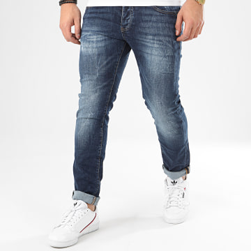 John H - Jean Slim 8967 Bleu Denim
