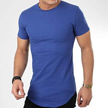 John H - Tee Shirt Oversize T20002 Bleu Roi