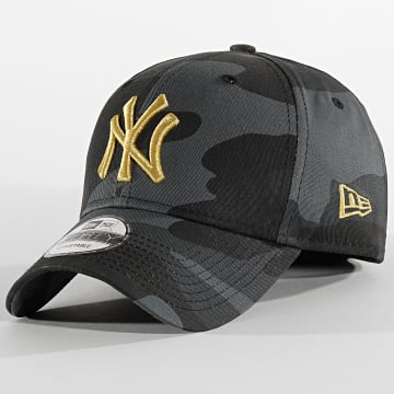 Casquette Baseball Camouflage New York Yankees 9Forty 12392337 Gris Anthracite Doré