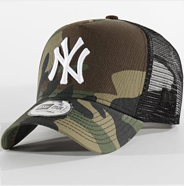 Casquette Trucker Camouflage New York Yankees 11596725 Vert Kaki Marron Noir
