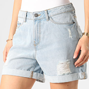 Noisy May - Short Jean Femme Smiley Bleu Wash