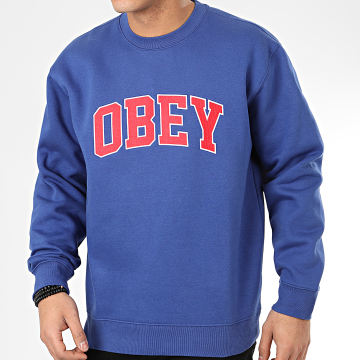 Obey - Sweat Crewneck Sports II Bleu Roi