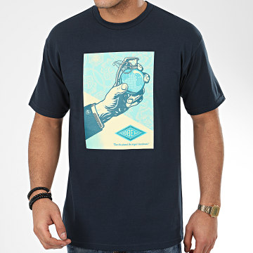 Obey - Tee Shirt Royal Treatment Bleu Marine