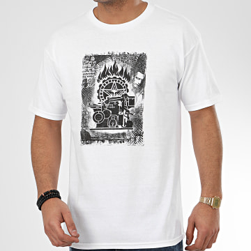 Obey - Tee Shirt Press Etching Blanc