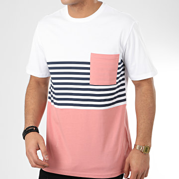 Tee Shirt Poche Del Mar 22017247 Blanc Rose