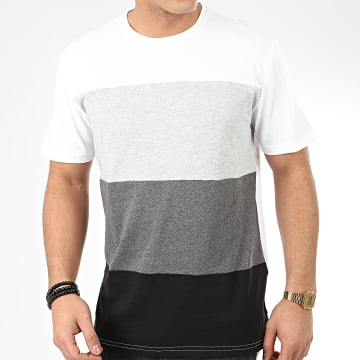 Only And Sons - Tee Shirt Rome 22045587 Blanc Gris Chiné Noir