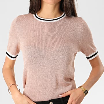Only - Pull Manches Courtes Femme Kamilla Rose