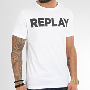 Replay - Tee Shirt M3594-2660 Blanc