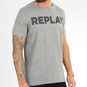 Replay - Tee Shirt M3594-2660 Gris Chiné