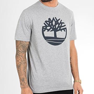 Timberland - Tee Shirt Kennebec River Brand Tree A2CGA Gris Chiné