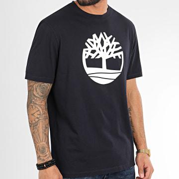 Timberland - Tee Shirt Kennebec River Brand Tree A2CGA Bleu Marine