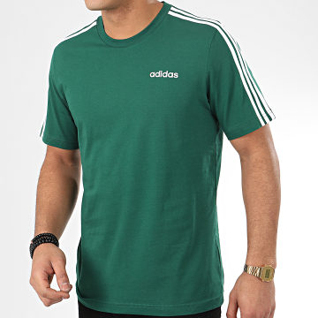 Tee Shirt A Bandes Essential 3 Stripes FM6230 Vert