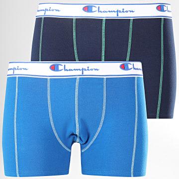 Lot De 2 Boxers Y081T Bleu Marine Bleu Roi