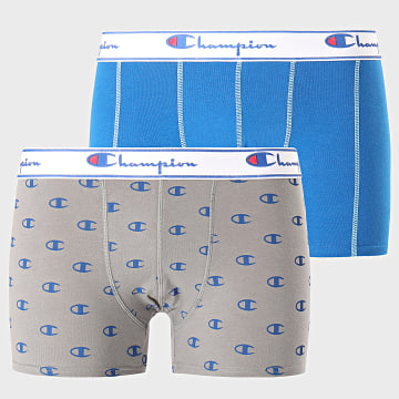 Lot De 2 Boxers Y081W Bleu Roi Gris