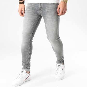 Jack And Jones - Jean Skinny Tom Original Gris