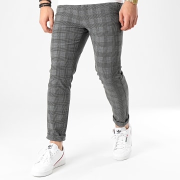 Jack And Jones - Pantalon A Carreaux Marco Connor Akm Gris