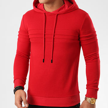 LBO - Sweat Capuche avec Empiecement 1026 Rouge