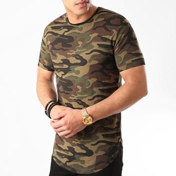 LBO - Tee Shirt Oversize Camouflage Avec Revers 974 Vert Kaki