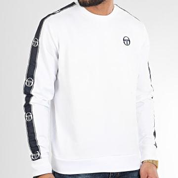 Sweat Crewneck A Bandes Fugard 38535 Blanc