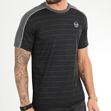 Tee Shirt A Rayures Et Bandes Fundi 38639 Noir