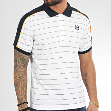 Polo Manches Courtes A Rayures Et Bandes Fundi 38638 Blanc