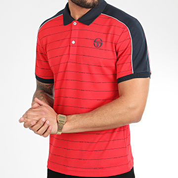 Polo Manches Courtes A Rayures Et Bandes Fundi 38638 Rouge