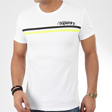 Superdry - Tee Shirt Core Logo Sport Stripe M1010097A Blanc
