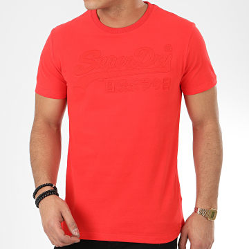 Superdry - Tee Shirt VL Embroidered M1010114A Rouge