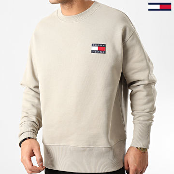 Tommy Jeans - Sweat Crewneck Tommy Badge 6592 Beige