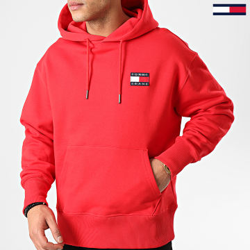 Tommy Jeans - Sweat Capuche Tommy Badge 6593 Rouge