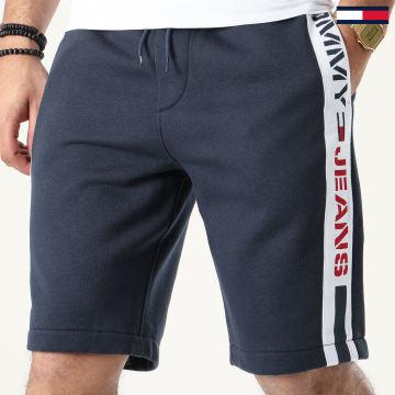 Tommy Jeans - Short Jogging A Bandes Branded Tape 7881 Bleu Marine