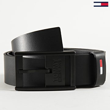 Tommy Jeans - Ceinture Rubber Inlay Leather 5958 Noir