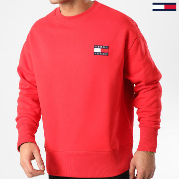 Tommy Jeans - Sweat Crewneck Tommy Badge 6592 Rouge