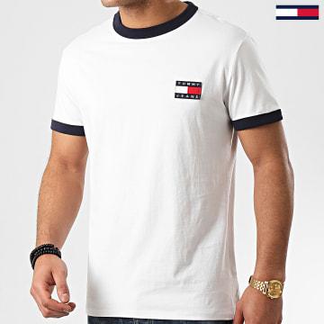 Tee Shirt Branded Ringer 7838 Blanc Cassé