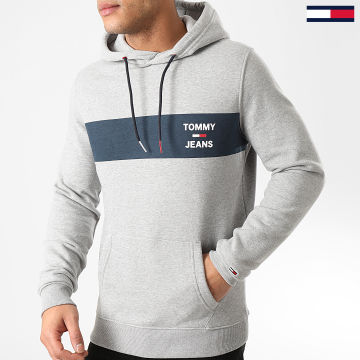 Tommy Jeans - Sweat Capuche Essential Graphic 7929 Gris Chiné