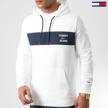 Tommy Jeans - Sweat Capuche Essential Graphic 7929 Blanc