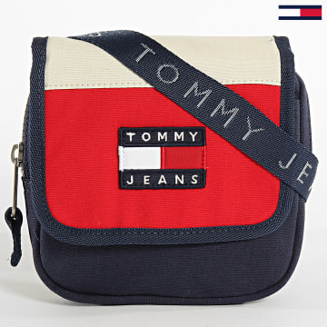 Tommy Jeans - Sacoche Heritage Flap Xover Canvas 6116 Bleu Marine