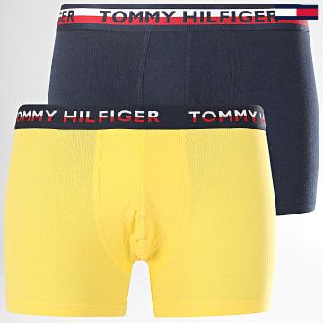 Tommy Hilfiger - Lot De 2 Boxers 0746 Bleu Marine Jaune