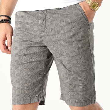 Short A Carreaux Moots Gris