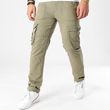 American People - Pantalon Cargo Means Vert Kaki