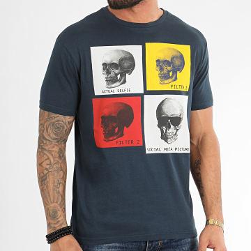 American People - Tee Shirt Mull Bleu Marine
