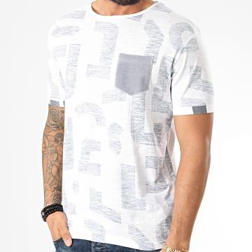 American People - Tee Shirt Poche Maori Blanc Bleu Marine