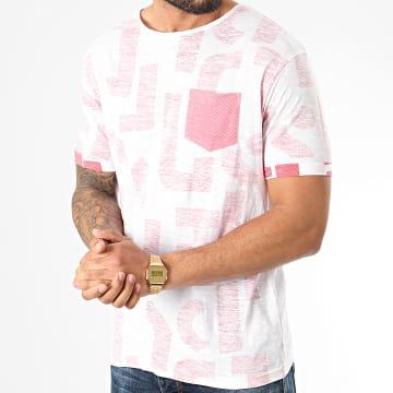 American People - Tee Shirt Poche Maori Blanc Rouge